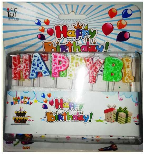 Happy Birthday Candles 13 piece in a box