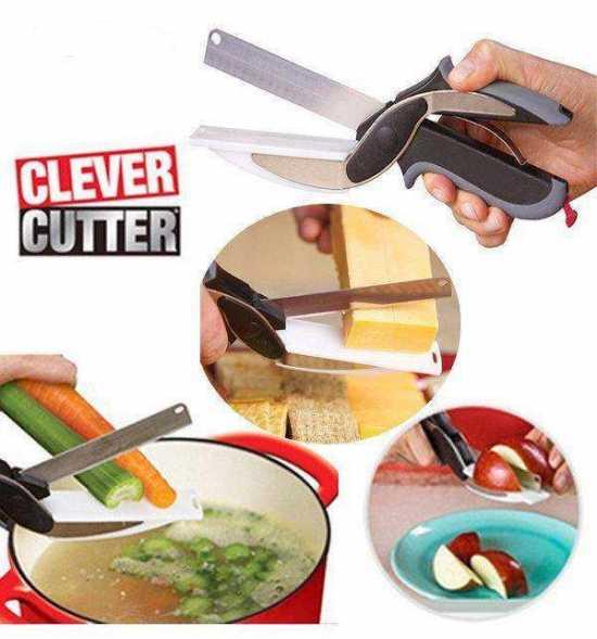 Clever Cutter 2-in-1 Knife & Cutting