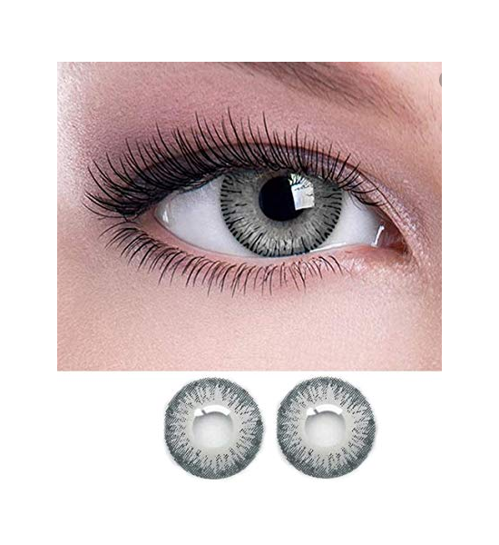 Grey Eye Contact Lenses With Container
