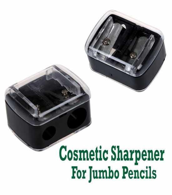 Cosmetic Jumbo Pencil Sharpener For Eyebrow Eyeliner 2 Holes