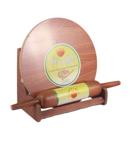 Rolling Board & Rolling Pin Set With Stand