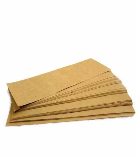 Pack Of 100 - Wax Paper Sheets - Brown