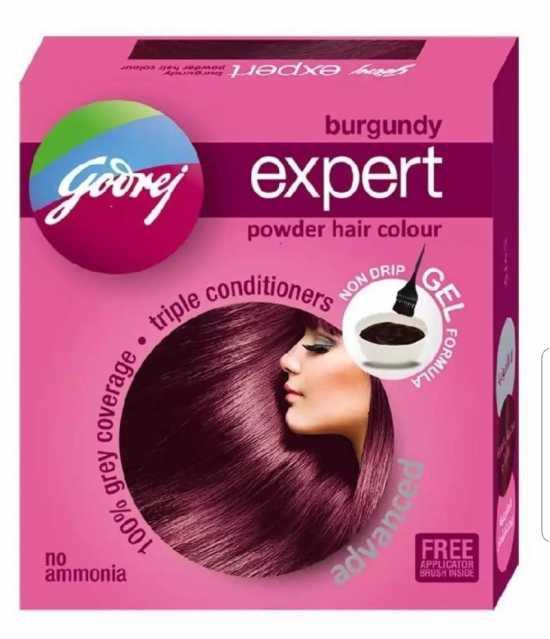 Godrej Expert Burgundy Powder Hair Colour (India)