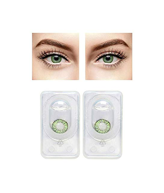 1 Pair Soft Contact Color Lenses Eye Makeup- Blue Hazel Aqua Green Brown Gray