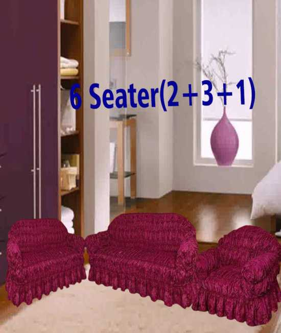 Elstic Sofa cover for 5 seater,6 seater and 7 seater Strechable sofa cover -...