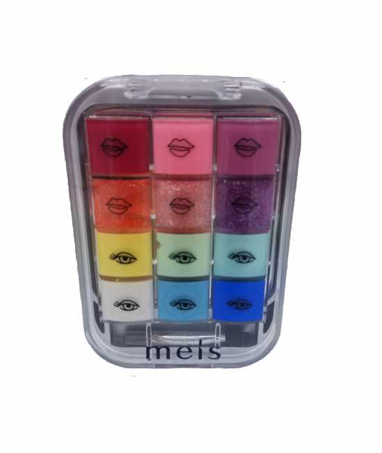LIP AND EYE SHADOW PACK OF 12 GLOSS color