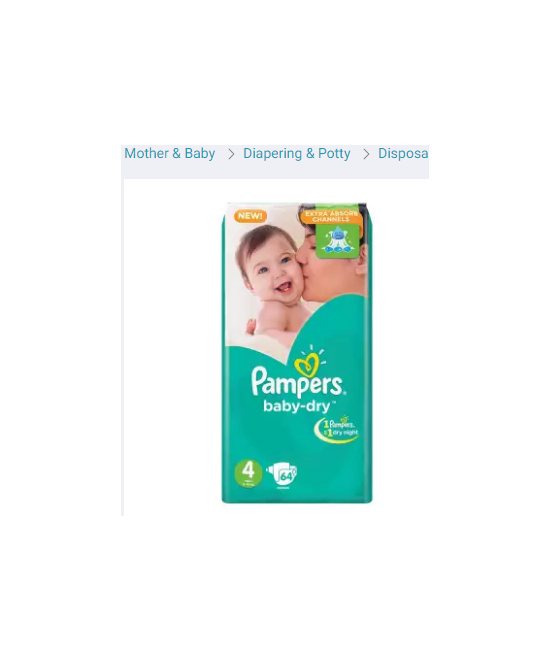 Pampers Baby Dry Diapers Large Size 4