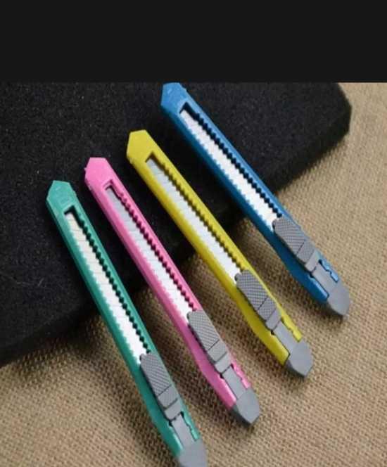 Pack of 4 - Snap Off Handicraft Sharp Cutter Snap-off Blade Knife