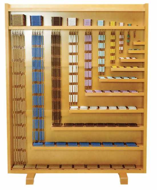 Montessori Beads for Linear Counting Frame - Skip Counting Material Without...