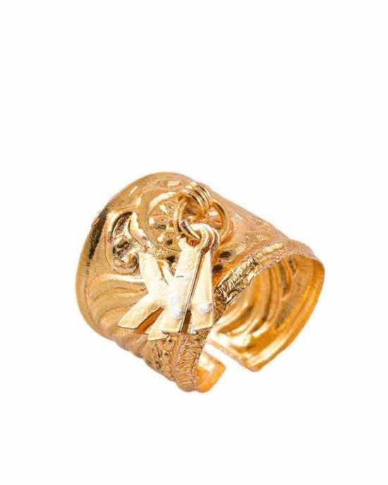 100 Degreez, Golden, Alloy, Ring for Women