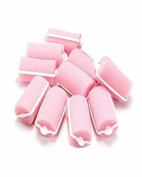 Hair Rollers foam - Pink pack of 10