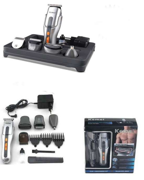 Kemei Km-680A - 8 In 1 Rechargeable Grooming Kit Shaver & Trimmer For Men