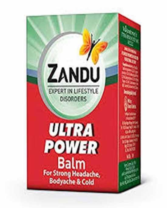 ZANDU .EXPERT IN LIFE STYLE DISORDERS . ULTRA POWER BALM FOR Strong Headache...
