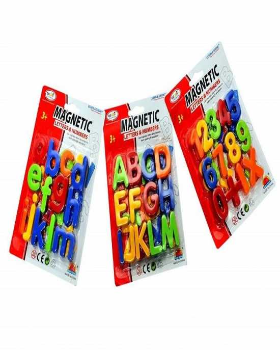 Magnetic Alphabets Capital And Small Letters And Numbers