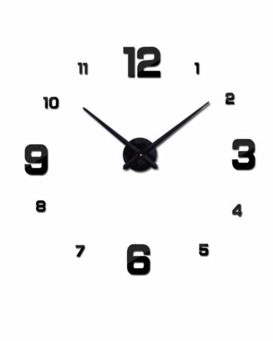 3D Wall Clock Quartz DIY Living Room Watch