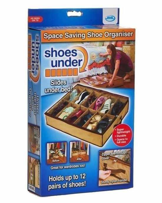 12 Shoes cell Under Bed Shoe Organizer Washable Storage Holder Shoes Storage...