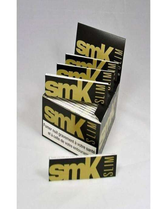 20 Packets SMK Slim King size Rolling Papers Box