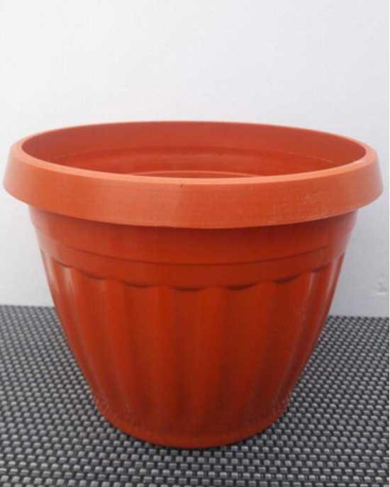 12/Pcs - Nursery Plastic Flower Plant Pots 5x7 inches G-149 - Brown