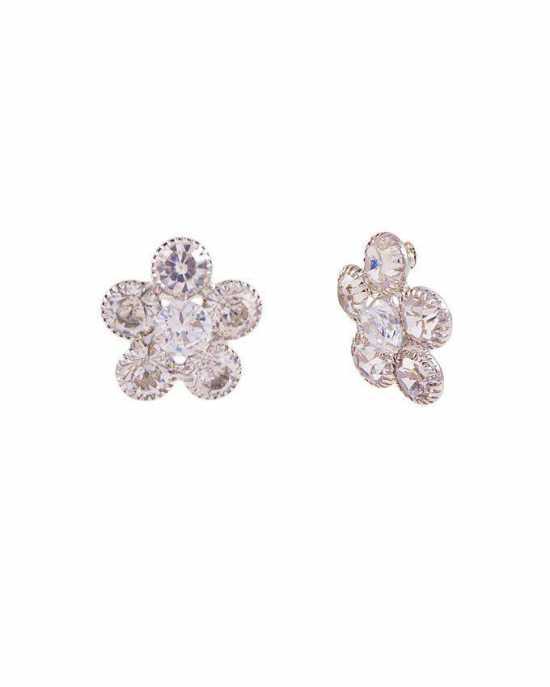 100 Degreez, Silver, Alloy, Earrings Pair for Women