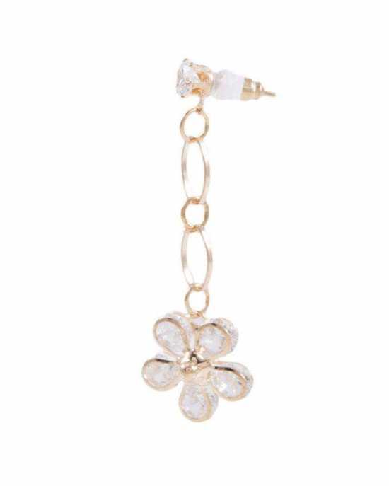 100 Degreez, Golden, Alloy, Earrings Pair for Women