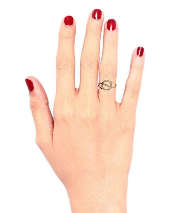 100 Degreez's Alloy, Gold Plated, Ring for Women