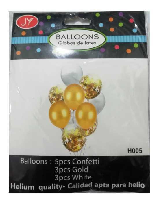 Party or Happy Birthday Celebration Popper Balloons - Confetti Balloons -...