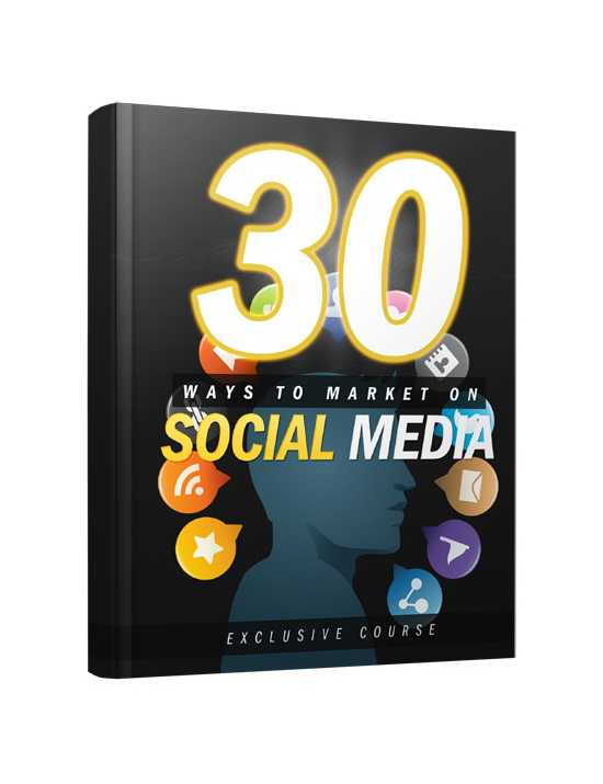 30 Ways to Marketing  on Social Media ebook