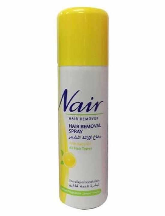 Nair Hair Remover Spray With Baby Oil LEMON Fragrance - 200ml