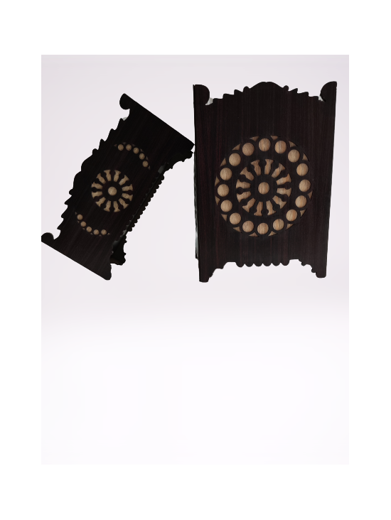 Pack of 2 Dust Bin and Tissue box Wooden Texture Chocklate