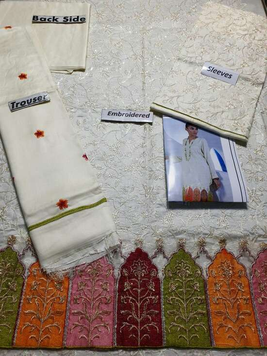 SS-94 Embroidered Linen two piece Winter Collection