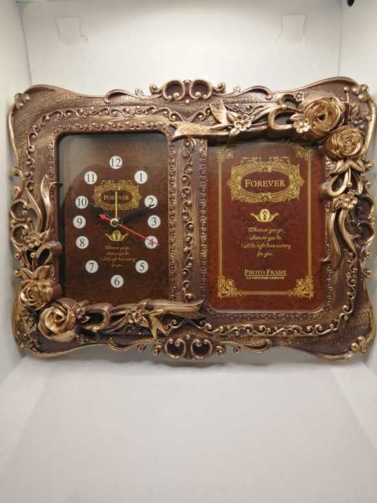 Square Photo Frame with Clock