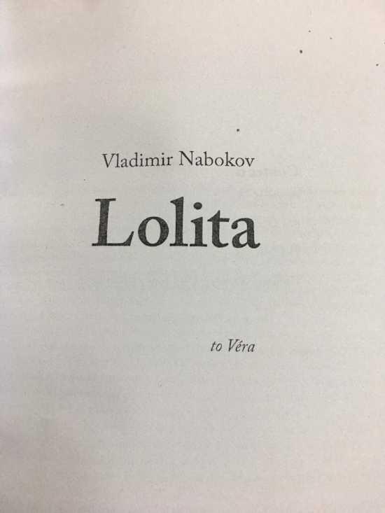 Lolita By Vladimir Nabokov - Book