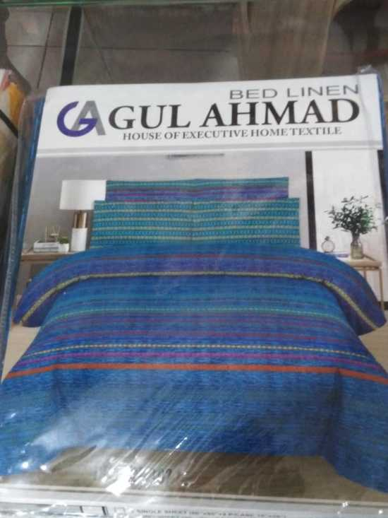 GULL-AHMED Pure cotton Bedsheets With 2 Pillow Covers