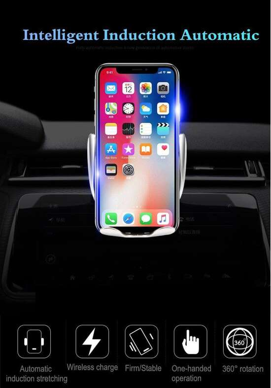 S5 Wireless Car Charger With Smart Sensor