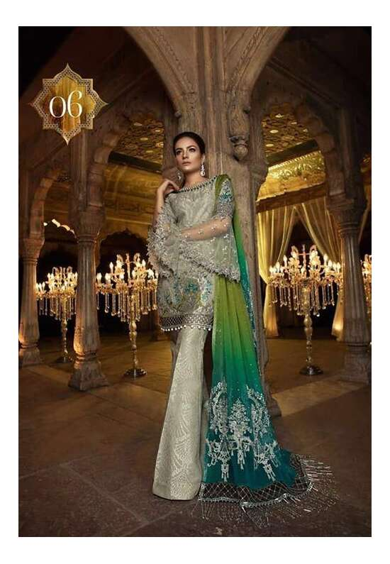 2Pc Embroidered shaffon Suit For Women Collection