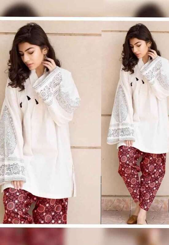 LJ-05 Lawn Embroidered two piece Winter Collection