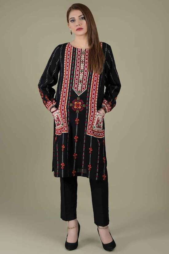 2Pc Embroidered  Lawn Suit  For Women Summer Collection