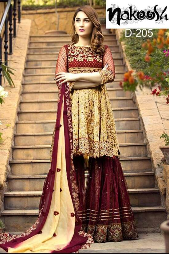 F-206 Embroidered Three Piece Lawn Collection