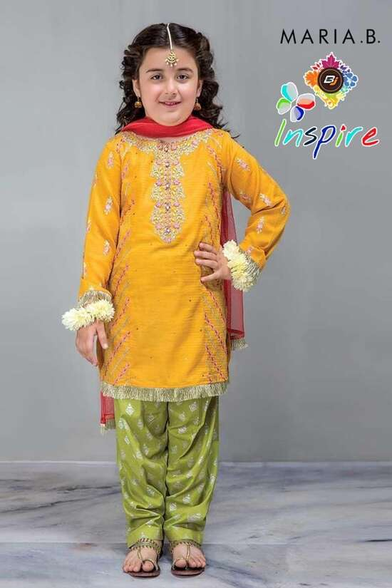 2Pc Kids Lawn Suit  For Women Summer Collection