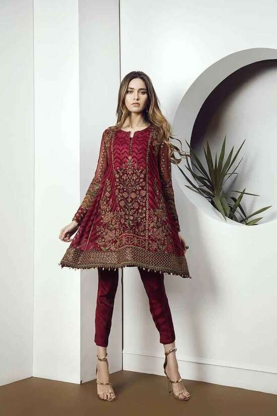 3Pc Embroidered  Shaffon Suit  For Women Summer Collection