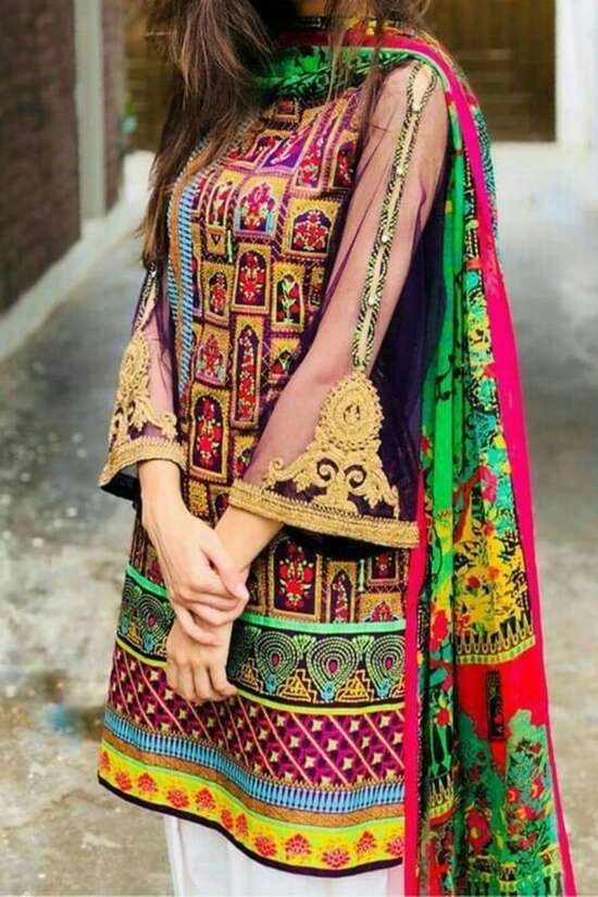 NK-2030 Unstitched Linen 2Pc Embroidered Collection For Women Pakistani...