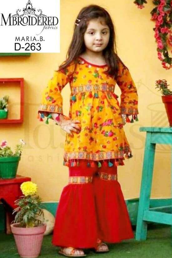 D-260 Unstitched  Linen 2Pc Embroidered Collection For Women Pakistani...