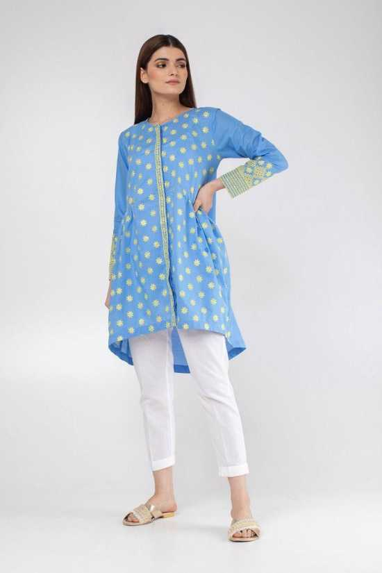 Lollypop summer tree Cotton Embroidery Stitched Kurtii