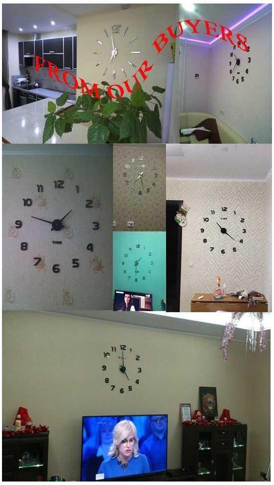 Modern Home Decorative DIY 3D Wall Clock 3d Acrylic Mirror Stickers - Silver