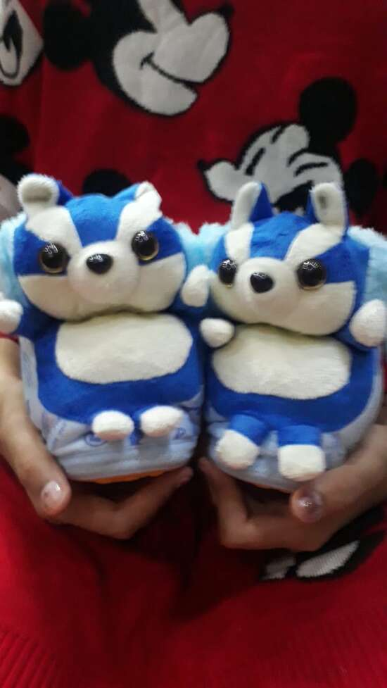 Winter Warm soft Slippers Cotton & Plush Anti-Slip Indoor House Bedroom Shoes...
