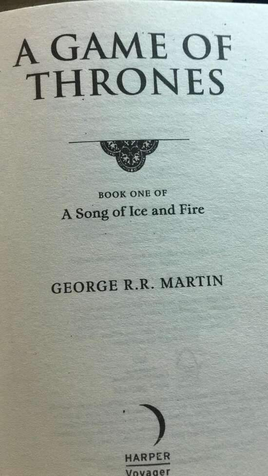 A Game Of Thrones (A Song Of Ice And Fire) - Book 1 By George R.R Martin